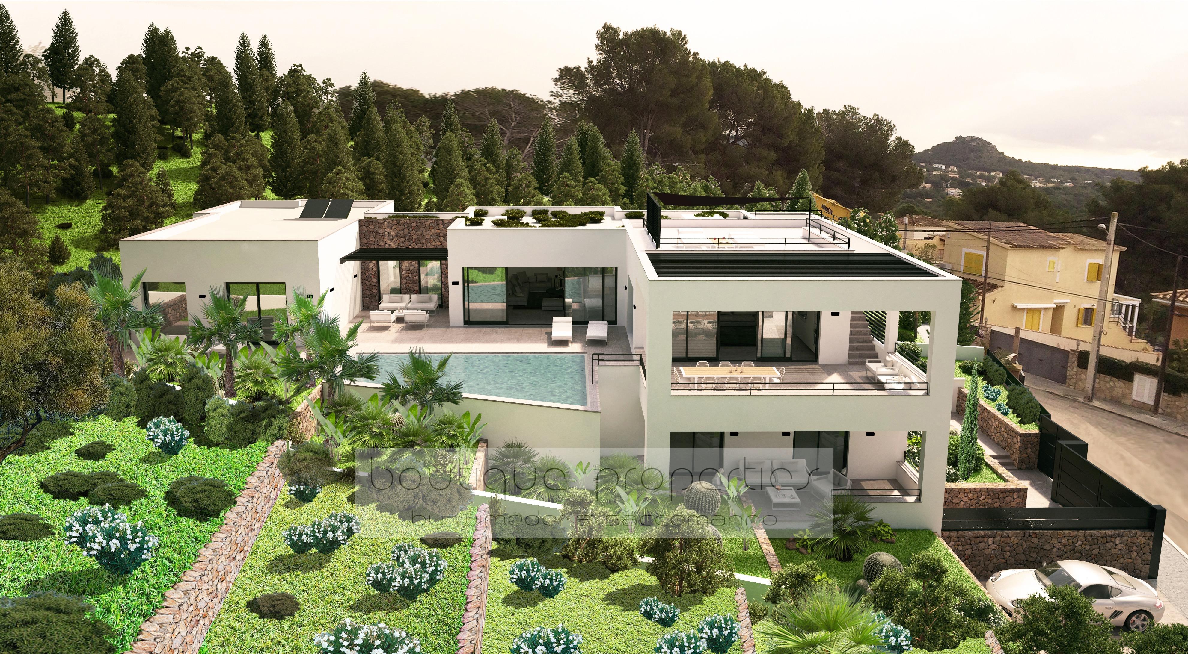 Santa ponsa moderne villa mit meerblick